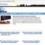 Il sito web della Microsoft nel 1998