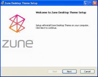 Setup Zune Desktop Theme